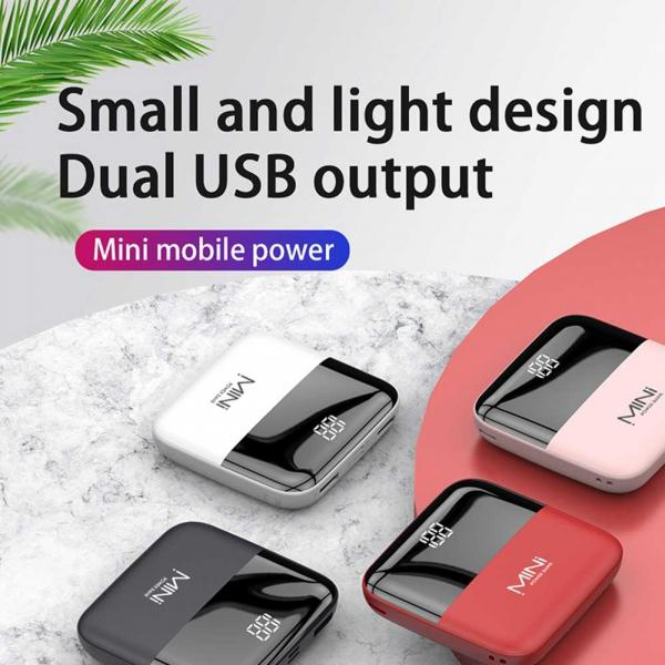 Portativ enerji yığma cihazı (Power Bank) FENRUI Power Slim Duo 10.000mAh Universal Mobile Charger
