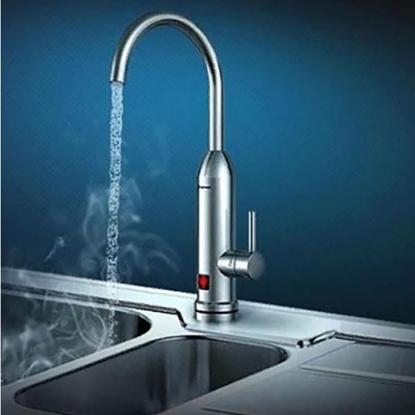Dilipu suyun qızdırılması üçün alt bağlantısı olan elektrikli su qızdırıcısı.