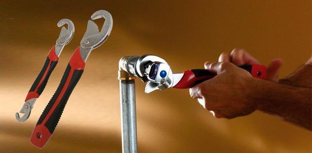 Universal açarlar Snap'n Grip - 9 mm-dən 32 mm-ə kimi 2 ədəd komplektdə - İstənilən bolt, truba açır və bağlayır.