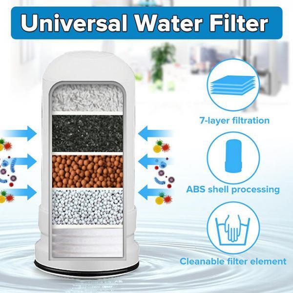 Su Kranı üçün universal filter-başlığın kartrici  7 filteredici materialdan ibarətdir