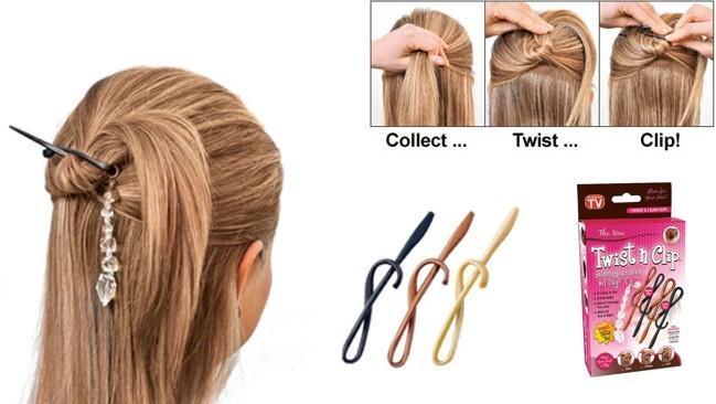 Картинки по запросу Заколка для волос Twist n Clip