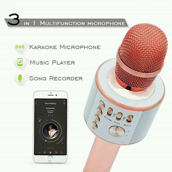Bluetooth kabelsiz karaoke mikrofon KTV Q 37 ( Original )