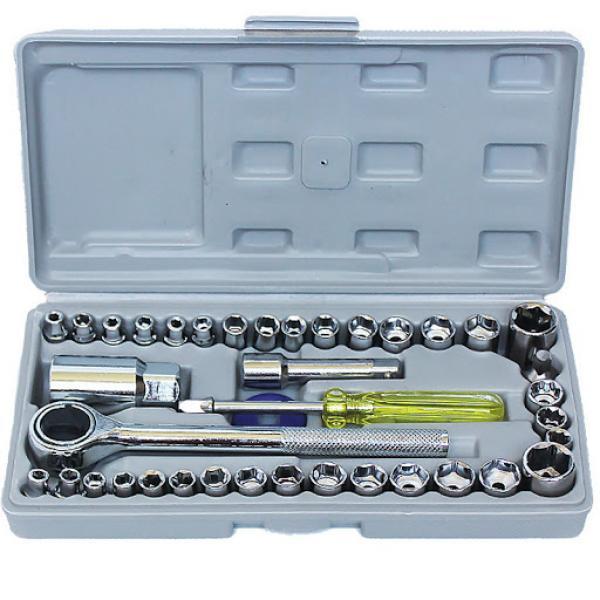 40 hissədən ibarət Aiwa Piece Tool Set Alət dəstii + Keys. Başlıqlar dəsti, yuva başlıqları.