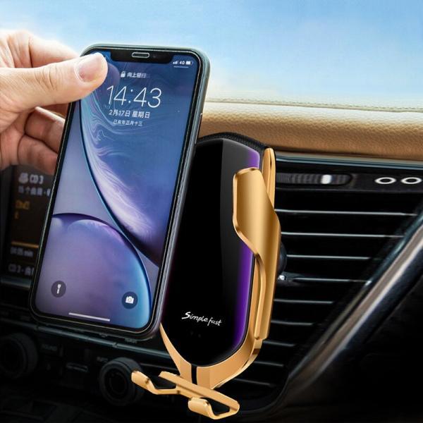 Simsiz qidalandırıcılı avtomobil üçün sensor telefon tutacağı Smart Sensor R2
