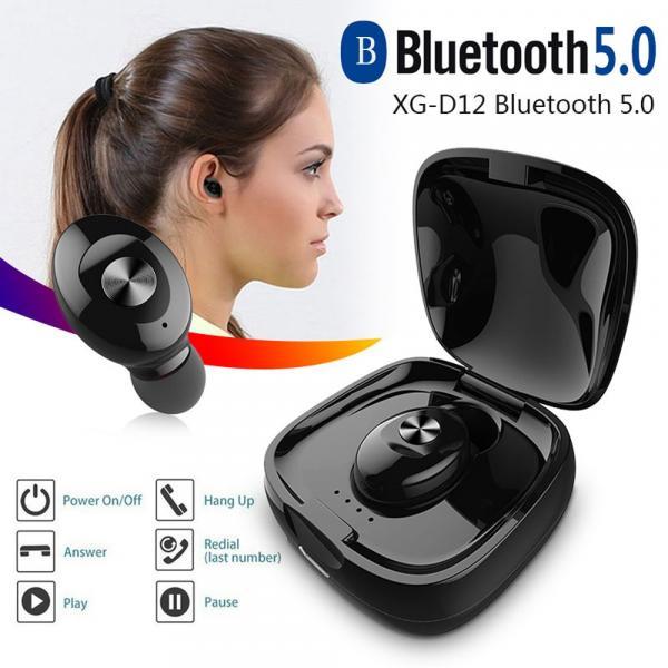 XG12 TWS Bluetooth 5.0 simsiz qulaqlıqları su keçirdməz