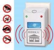 Siçovul, siçan, tarakan, qarışqa və hörümçək üçün elektron qovucu Riddex Plus