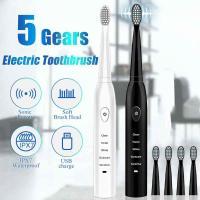 Ультразвуковая электрическая зубная щетка Sonicare (5 режимов) + 3 шт. x зубные насадки